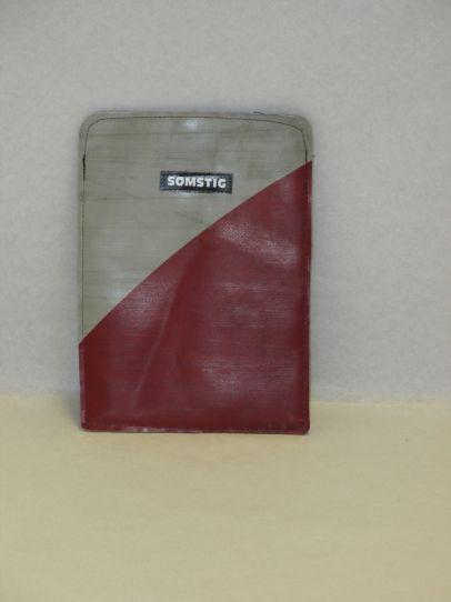 Mini-tablet / E-reader hoesje grijs - rood grijs, rood