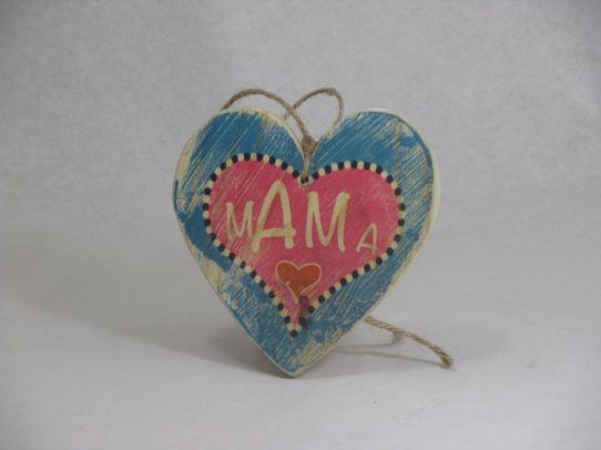Hart met tekst 'Mama'  -