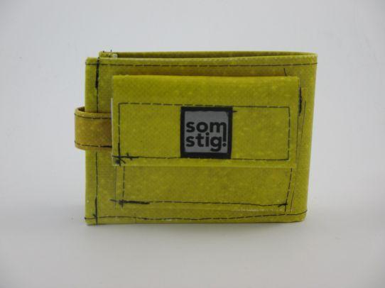 Mini portemonnee Geel