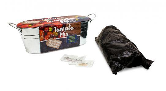Zink schaal tomaat -