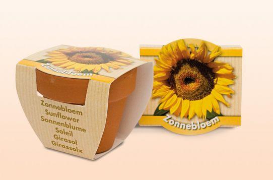 Zonnebloem standaard (sleeve) geel